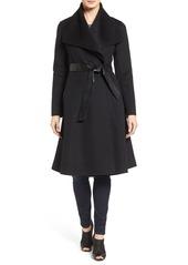 Mackage Drape Front Double Face Fit & Flare Coat