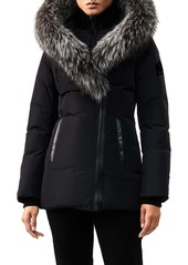 Mackage Adali-X Hooded Down Parka with Inset Bib & Genuine Fox Fur Trim