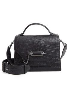 Mackage Keeley Croc Embossed Leather Crossbody Bag