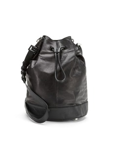 Mackage Leather Drawstring Bucket Bag
