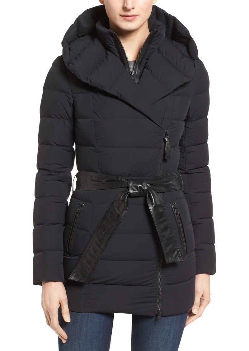 Mackage Leather Trim Hooded Down Parka
