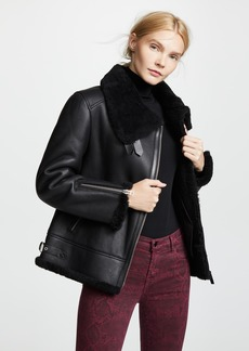 Mackage Minna Sheepskin Moto Jacket