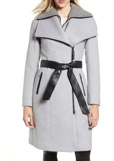 Mackage Nori Belted Wool Blend Coat