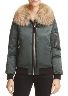 Mackage Rella Fur-Trim Down Bomber Jacket - 100% Exclusive