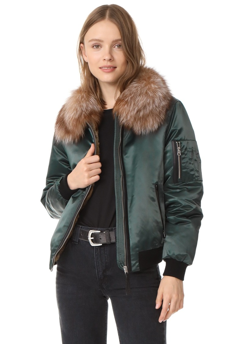 133992a25aa1b Mackage Mackage Rella Satin Bomber Jacket Now $519.75