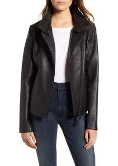 Mackage Sandy-N Lambskin Leather Moto Jacket
