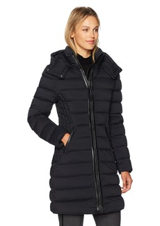 Mackage Women's Farren Fitted Lightweight Down Jacket with Quilted Detailing  L