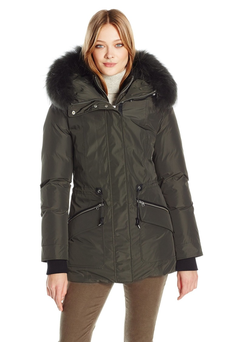 Mackage Women's Katryn Down Coat with Drawstring Waist  L