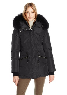 Mackage Women's Katryn Hip Length Classic Down Jacket with Fur Hood  XS
