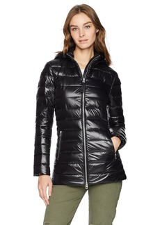 Mackage Women's Kimia Mid Length Lustrous Light Weight Down Jacket  M