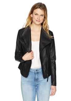 Mackage Women's Pina-L Fitted Sleek Leather Jacket  L