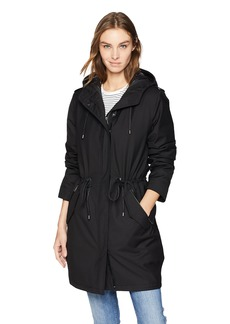 Mackage Women's Renina 2-in-1 Hooded Waterproof Trench  L