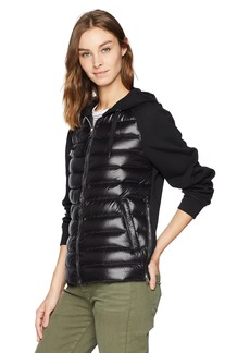 Mackage Women's Yori Washable Lustrous Light Weight Down Hoodie  L