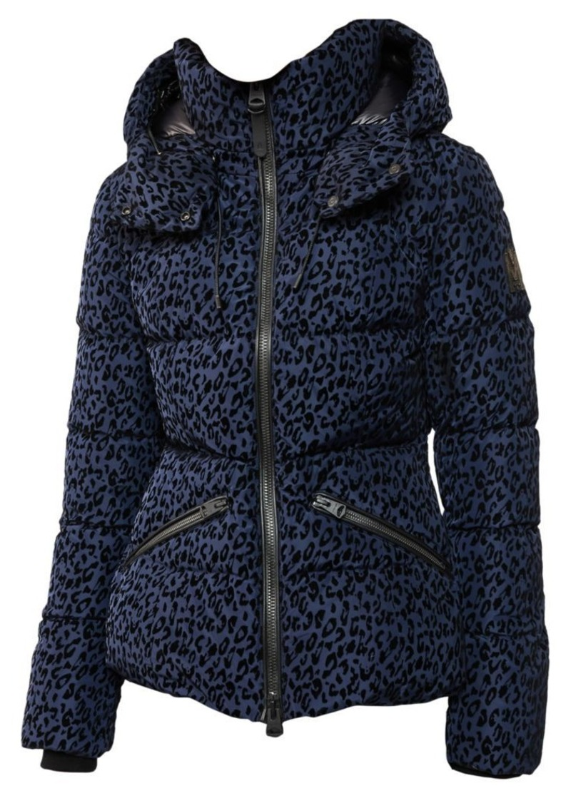 Mackage Madalyn Leopard-Print Down Puffer Coat