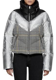 Mackage Prince of Wales & Metallic Puffer Jacket