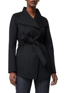 Women's Mackage Azara Water Resistant Wool & Leather Wrap Coat
