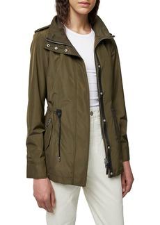Women's Mackage Melita Water Repellent Raincoat With Removable Hooded Bib