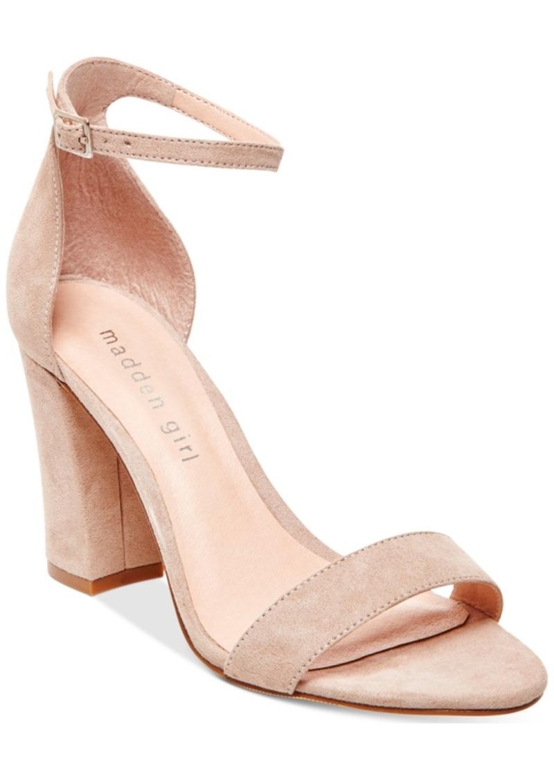 Madden Girl Bella Two-Piece Block Heel Sandals Women's Shoes