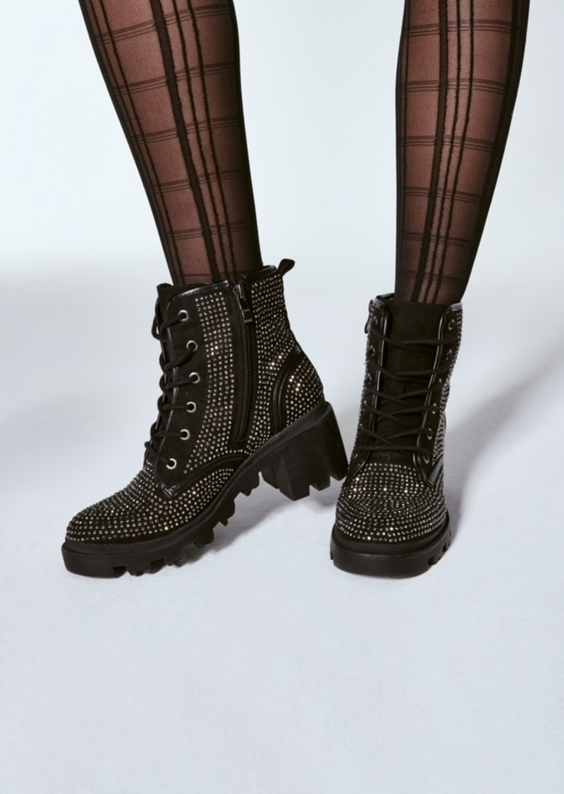 Madden Girl Dymond Rhinestone Lug Booties