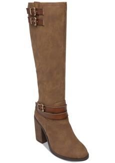 Madden Girl Edrea Wide Calf Block-Heel Boots