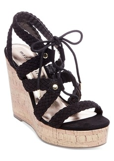 Madden Girl Emboss-c Platform Wedge Sandals Women's Shoes