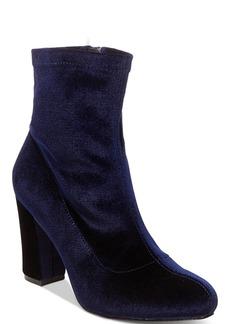 Madden Girl Fantaysa Block Heel Booties Women's Shoes