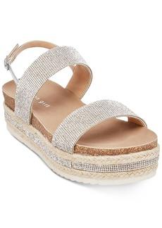 Madden Girl Glitzie Embellished Flatform Sandals