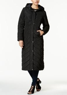 Madden Girl Juniors' Chevron Maxi Puffer Coat