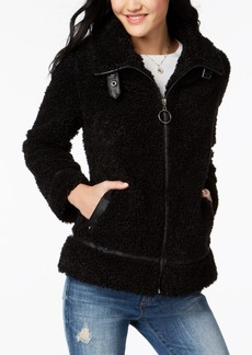 Madden Girl Juniors' Faux-Fur Teddy Jacket