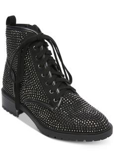 Madden Girl Kirra Rhinestone Combat Boots, Created for Macy's