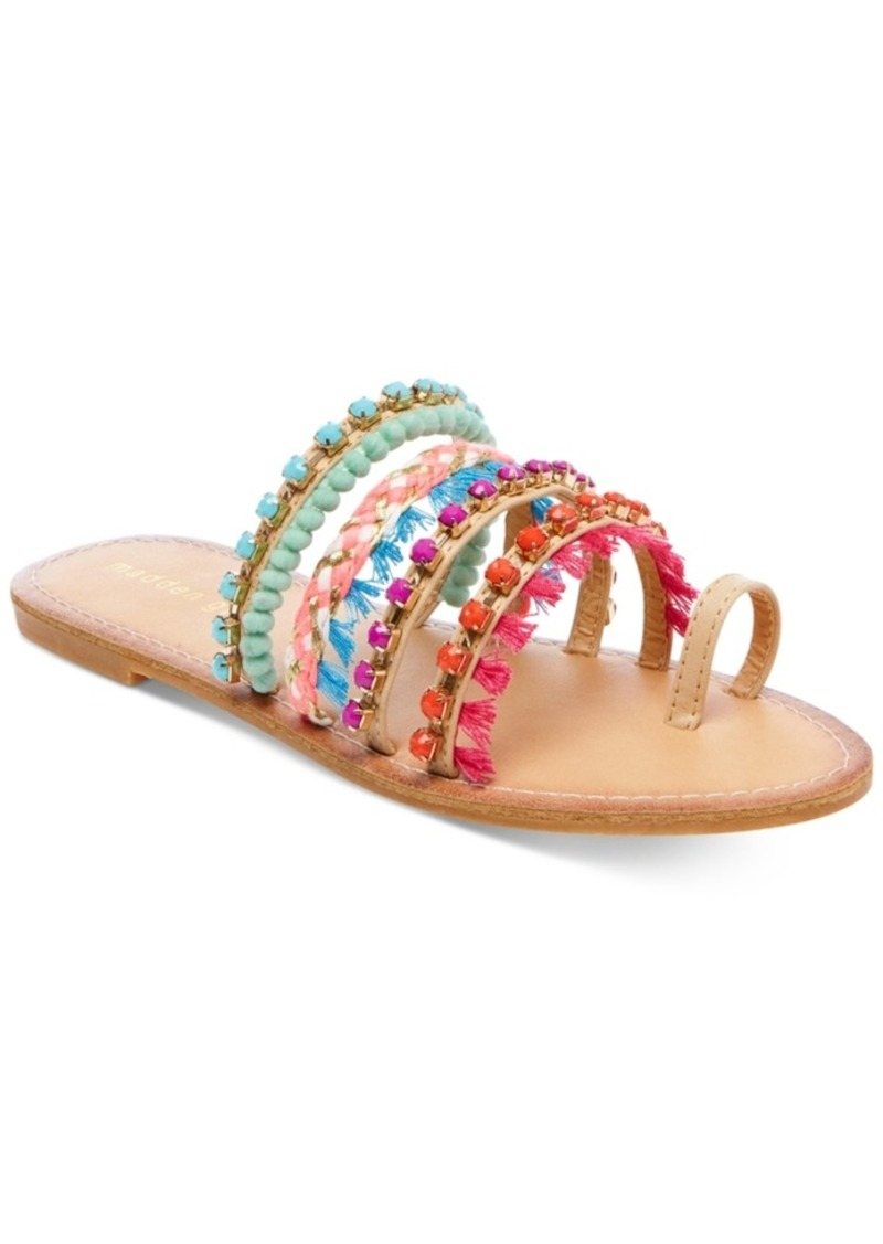 Madden Girl Krreed Embellished Slide Sandals Women's Shoes