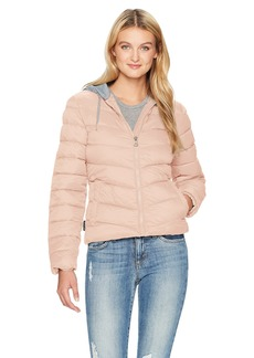 Madden Girl Women's Bomber Jacket With Fleece Hood  J155 L