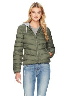Madden Girl Women's Bomber Jacket With Fleece Hood  J155 L