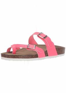 Madden Girl Women's BRYCEEE Slide Sandal Pink neon  M US