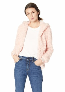 Madden Girl Women's Faux Fur Fashion Jacket  M