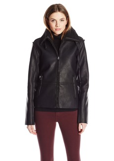 Madden Girl Women's Faux Shearling Bomber Jacket