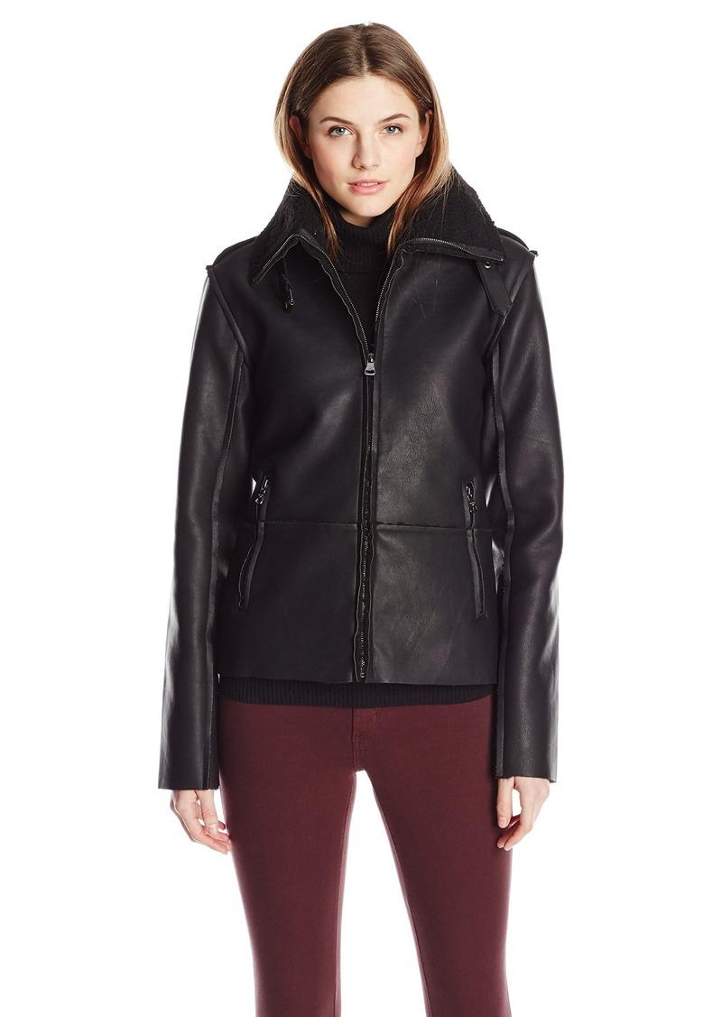 Madden Girl Women's Faux Shearling Bomber Jacket
