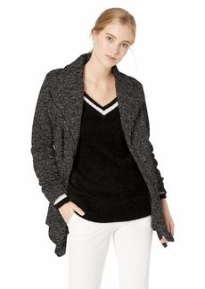 Madden Girl Women's Fleece Coat wrap Charcoal XL