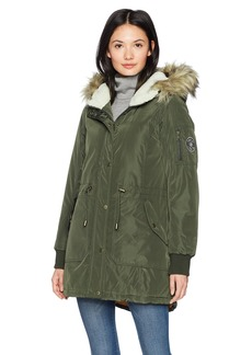 Madden Girl Women's High and Low Anorak Olive j L