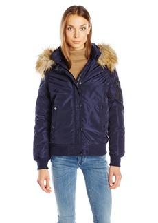 Madden Girl Women's Hooded Bomber Jacket  S