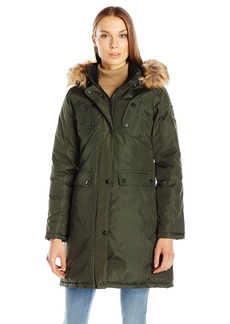 Madden Girl Women's Multi Pocket Insulated Coat  L