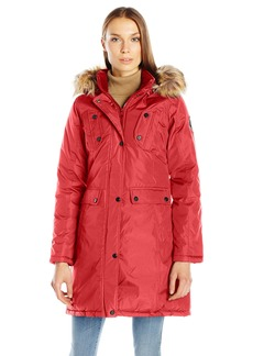 Madden Girl Women's Multi Pocket Insulated Coat  M
