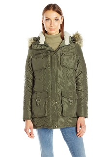 Madden Girl Women's Multi Pocket Parka