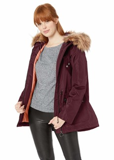 Madden Girl Women's Nylon Fashion Anorak Jacket  L
