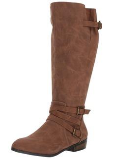 Madden Girl Women's Opus Wide Calf Fashion Boot  6 W US