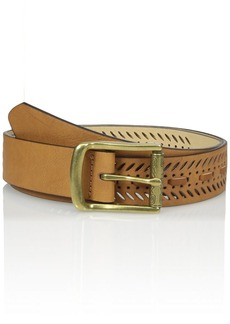 Madden Girl Women's Perforated Pant Belt with Whip Stitch Detail
