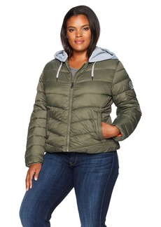 Madden Girl Women's Plus Size Bomber Jacket