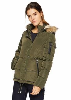 Madden Girl Women's Plus Size Nylon Puffer Jacket