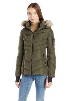 Madden Girl Women's Puffer Jacket  L