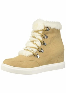 Madden Girl Women's Pulley Ankle Boot tan fabric  M US